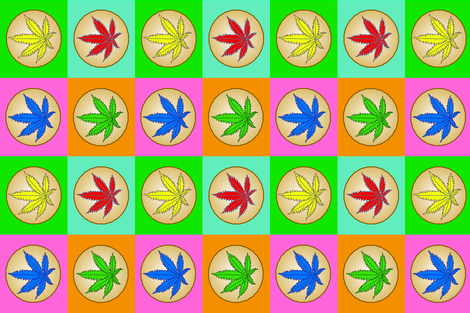Mr Warhol's Marijuana Cookies II fabric by gargoylesentry_ on Spoonflower - custom fabric