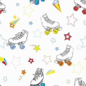 Rainbow Comic Roller Skates