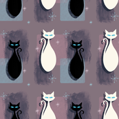 Retro Sparkling Eyed Cats