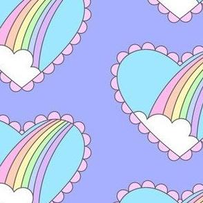 Rainbow Heart Periwinkle