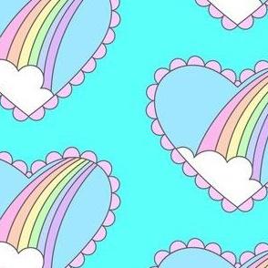 Rainbow Heart- Ocean Blue
