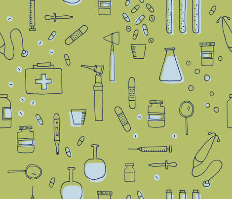 Medical Tools fabric by yellowinkstudio on Spoonflower - custom fabric