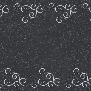 Double Swirls Greyscale