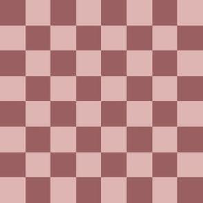 JP24 - Rusty Dusty Mauve Checkerboard
