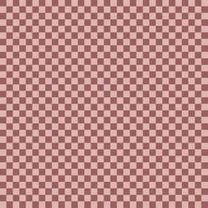 JP24 - Tiny Rusty Dusty Mauve Checkerboard