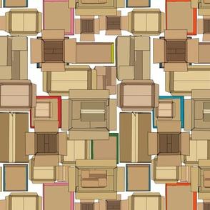 cardboard boxes medium scale