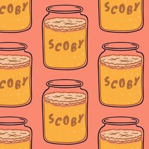 Scoby Kombucha Tea Coral Pink