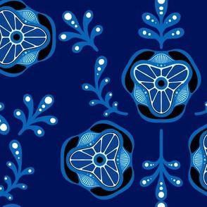 Blue Triple Leaf