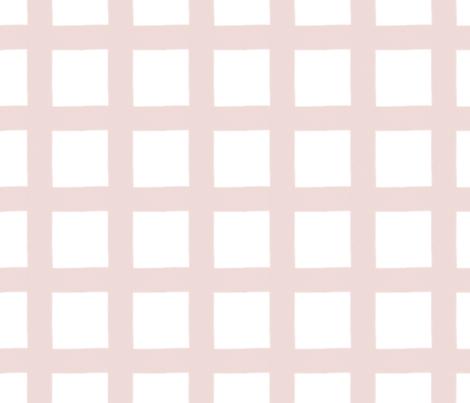 Buffalo Check in Blush Pink fabric by fraichebaby on Spoonflower - custom fabric