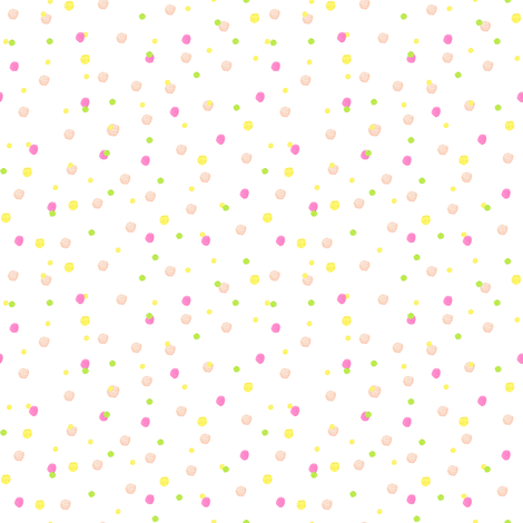 Pink Confetti Dot fabric by sweetseasonsart on Spoonflower - custom fabric