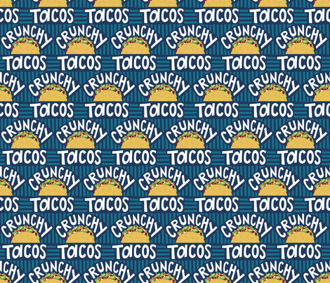 Crunchy Tacos fabric by dearchickie on Spoonflower - custom fabric