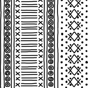 Black on White Mudcloth Inspired 11