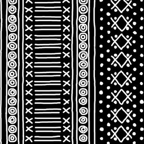 White on Black Mudcloth Inspired 11
