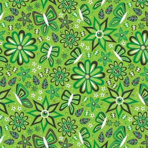 Butterfly Garden (Green)