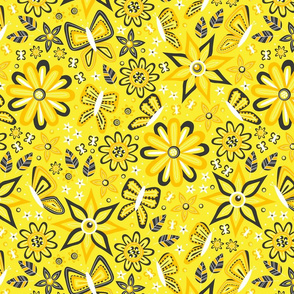 Butterfly Garden (Yellow)