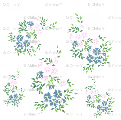 Flower - Blue and Pink
