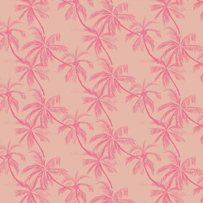 palms in salmon pink