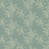 small palms in green-gray