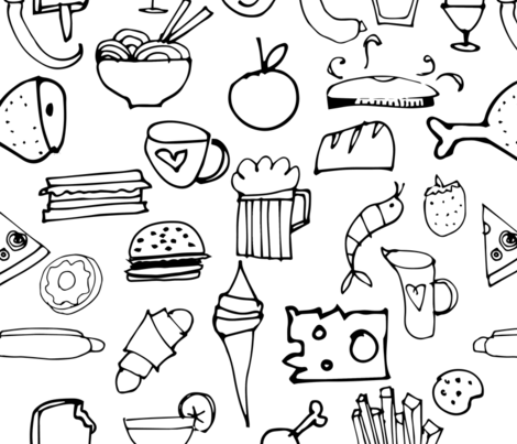 Snacks fabric by bruxamagica on Spoonflower - custom fabric