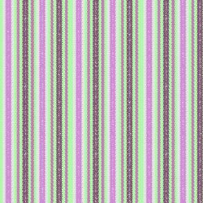 JP25 - Lilac and Limey Mint Jagged Stripes