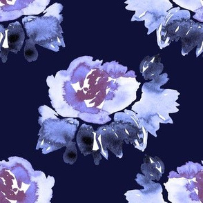 Purple petals, navy night
