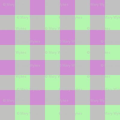 JP25 - Tiny  Lilac and Limey Mint buffalo plaid