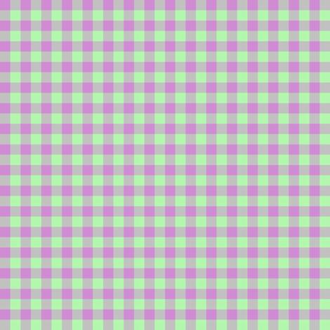 JP25 - Tiny  Lilac and Limey Mint buffalo plaid fabric by maryyx on Spoonflower - custom fabric