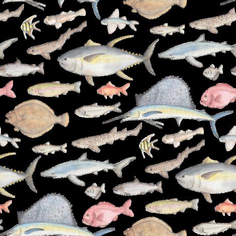 Underwater life fabric by daniwilliams on Spoonflower - custom fabric