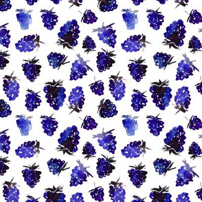 Blue berries || watercolor pattern