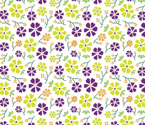Bloom (Sunrise) fabric by angelatackett on Spoonflower - custom fabric