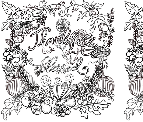 DIY Color thanksgiving!  fabric by salzanos on Spoonflower - custom fabric