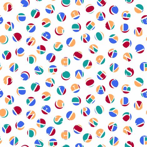 mini ditsy alphabet dots, fishing colors fabric by weavingmajor on Spoonflower - custom fabric