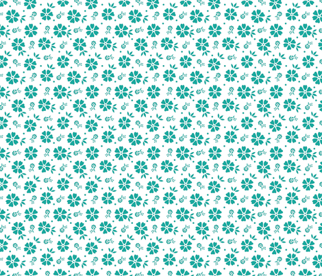 Bouquet (Meridian) fabric by angelatackett on Spoonflower - custom fabric