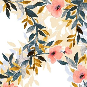 Interlocking Watercolor Floral Blossom Wreaths 2 - large