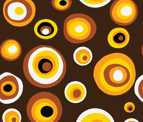 Golden-Brown Circles fabric by doritos123 on Spoonflower - custom fabric