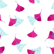 Pink ginkgo leaves