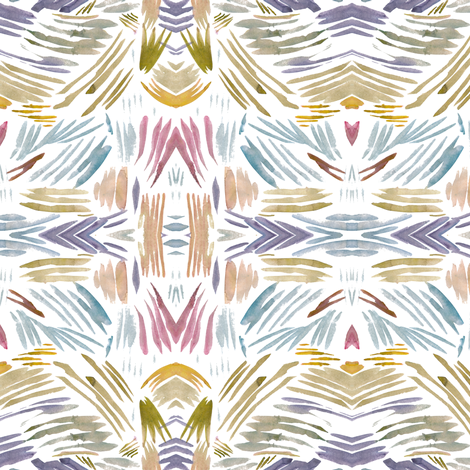 cestlaviv_shell_stripes fabric by @vivsbeautifulmess on Spoonflower - custom fabric