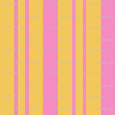 JP26 - Step Back Yellow and Savvy Pink  Rhythmic Stripes