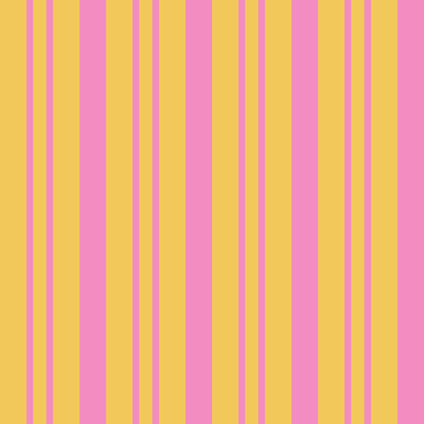 JP26 - Step Back Yellow and Savvy Pink  Rhythmic Stripes fabric by maryyx on Spoonflower - custom fabric
