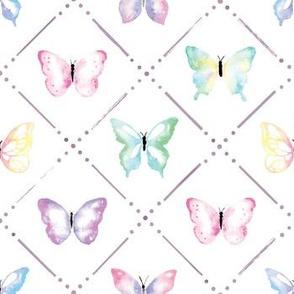 Butterfly Garden in Pastels