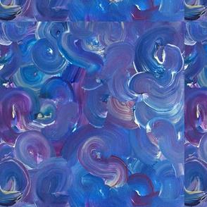 Purple/Blue/Silver  Swirls