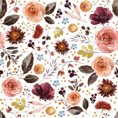 """3"""" Boone Fall Florals"""