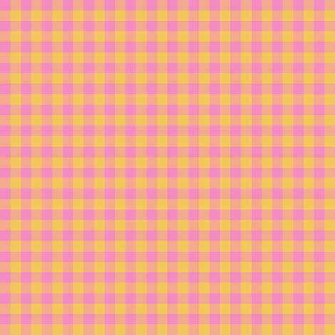 JP26 - Tiny Step Back Yellow and Savvy Pink Buffalo Plaid fabric by maryyx on Spoonflower - custom fabric