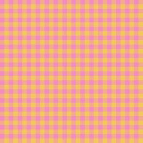 JP26 - Tiny Step Back Yellow and Savvy Pink Buffalo Plaid