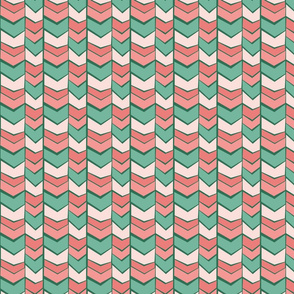 Pink and Green Chevrons