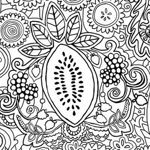 Market Veggies Henna Doodle