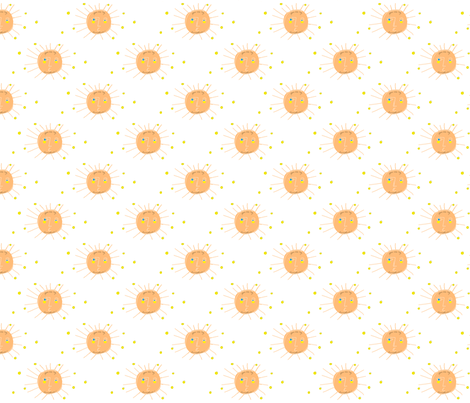 you are my sunshine fabric by thetwelve25 on Spoonflower - custom fabric