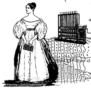 Women of Computer Science - Toile Black and White