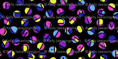ditsy alphabet dots, Bob's colors