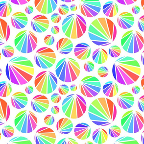 Rainbow circle bursts - block colours